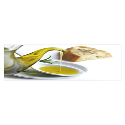 (Fish Tank Background Pour Olive Oil on a Spoon and a Slice of Bread with Oregano PVC Adhesive Decor Paper Sticker L35.4 x)