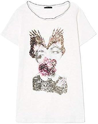 Sisley T-Shirt Camiseta para Mujer