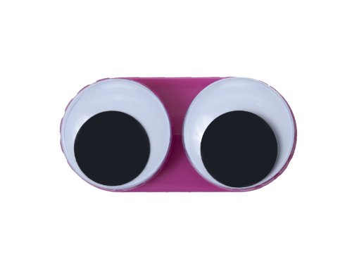 Present Time Googly Eyes Contact Lens Case, (Novelty Contact Lens)
