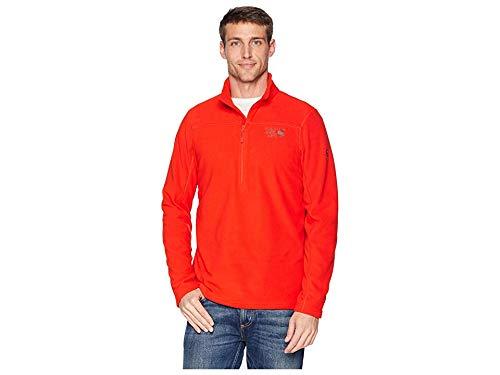 (Mountain Hardwear Men's Microchill 2.0 Zip T Fiery Red X-Large)