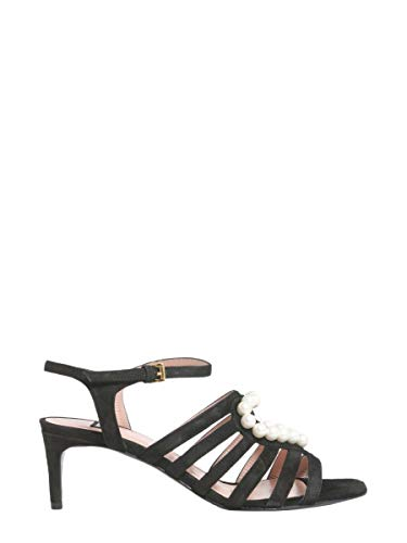 Boutique Moschino Women's A630980060555 Black Leather Sandals