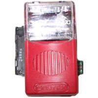 Gentex GEC3-24WR 24VDC Selectable Candela Low Profile Evacuation Horn & Strobe - Red Faceplate