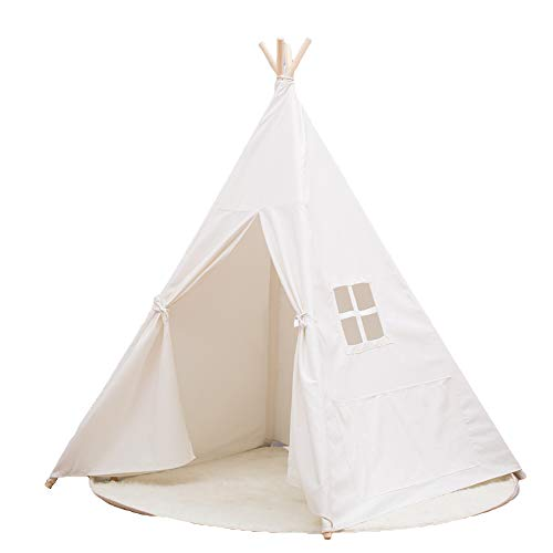 Small Boy Portable Kids Cotton Canvas Teepee Indina Play Tent