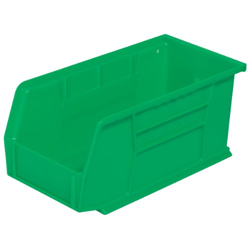 Akro-Mils 30230 Plastic Storage Stacking Hanging Akro Bin, 11-Inch by 5-Inch by 5-Inch, Green, Case of 12 by Akro-Mils