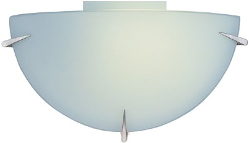 Hilite Glass Sconce (Lite Source LS-1338PL Nick Wall Sconce with Frost Glass Shade, Polished Steel Finish)