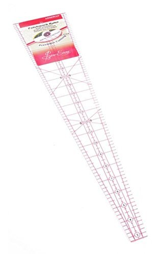 Sew Easy NL4185 Acrylic 10° Wedge Quilting Ruler 22½in Mark Semi/Circular Quilts by Sew Easy
