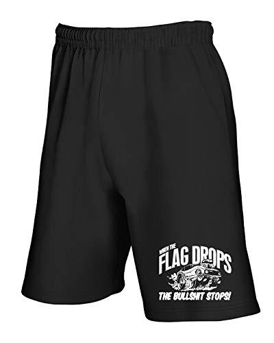 Flag shirtshock T The Tuta Pantaloncini Drops Rod Tb0505 Nero Racing Drag When Hot Ofq0pfr