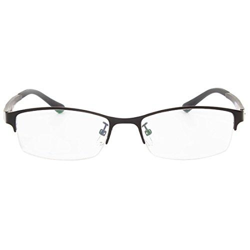 Mâle Yefree mode Noir métal lunettes en lentille résine lunettes cadre en trame myopes Femme rétro demi qrfdI1wqx