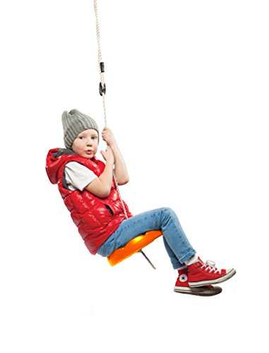 UPC 840985111489, Orange Disk Seat Swing Monkey Rope Tree Swing by Summersdream