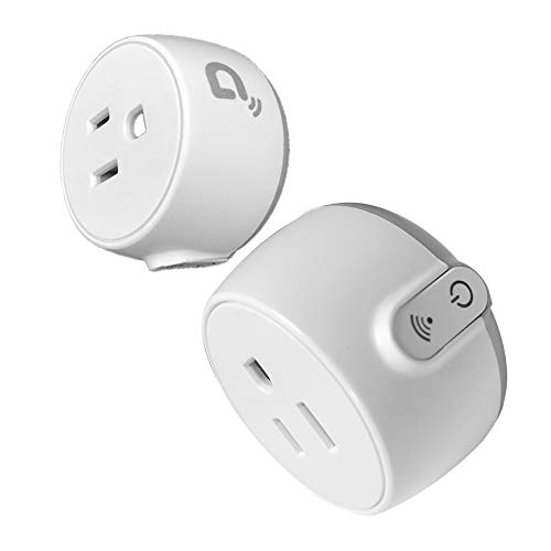 Mini Smart Plug Outlet Compatible with Amazon Alexa Google Home IFTTT, No Hub Required, ETL and FCC Listed WiFi Enabled Remote Control Smart Socket (2 Pack)
