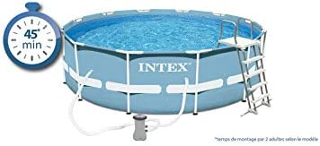 Intex Prism Frame - Piscina tubular cuadrada 4, 88 x 4, 88 x 1, 22 ...