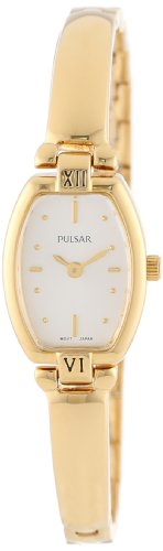Pulsar Women's PEGA68 Gold-Tone Stainless Steel Bangle - Womens Fashion Pulsar Watch