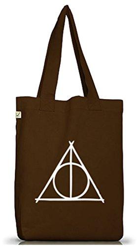 Claro Positiva Plástico Street24 Camiseta Triangle Earth Única Yute Bolsa talla Marrón Funda Harry qX77w8dU