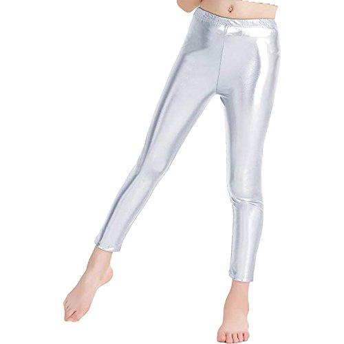 Metallic Spandex Tunic - GAIBEST Women Metallic Color Shiny Lycra Stretch Leggings Leotard