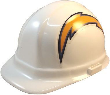 Texas American Safety Company NFL Los Angeles Chargers Hard Hats with Ratchet Suspension 1