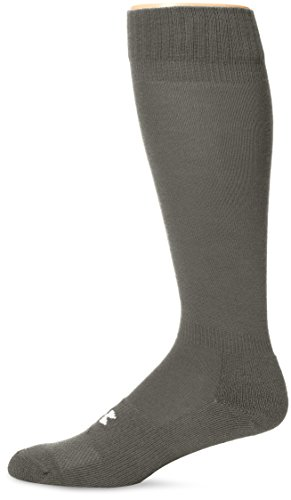 (Under Armour Men's Heatgear Boot Socks (1-Pack) LG  (Men's Shoe 9-12.5),Foliage Green)