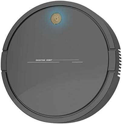 LSXLSD Aspirateur Robot Intelligent USB sans Fil de Charge des ménages Balayer Robot poussière Nettoyage Cheveux Aspirateur (Color : White) Black