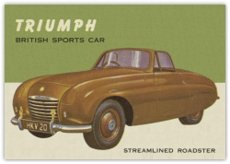 1953 Topps World on Wheels (R714-24) (Non-Sports) Card# 126 Triumph Stremlined Roadster VGX Condition