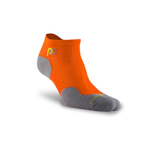 PRO Compression: Trainer (Low-Profile) Compression Socks, Orange, 2 Pairs, Small/Medium