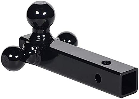 NBJINGYI 2 Trailer Hitch Tri Ball Mount with Hook 1-7//8 2-5//16 Chrome Plated Balls and Hook 2