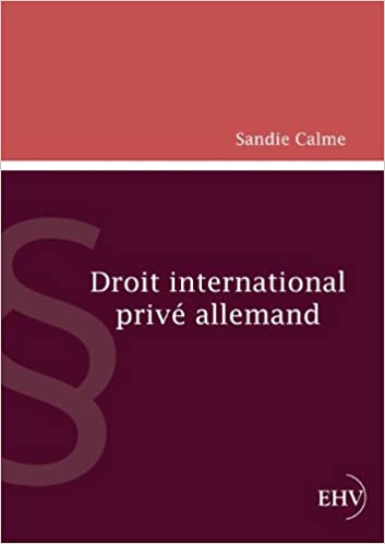 Droit international prive allemand (German Edition): Sandie