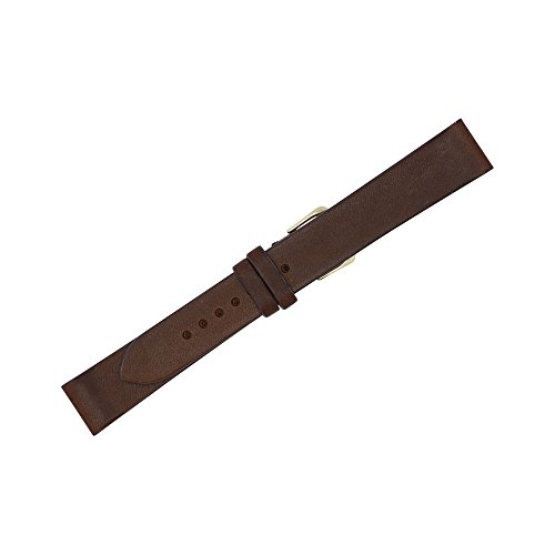18mm Brown Montana Vintage Leather LONG Flat Replacement Watch Strap Made in USA FBA58