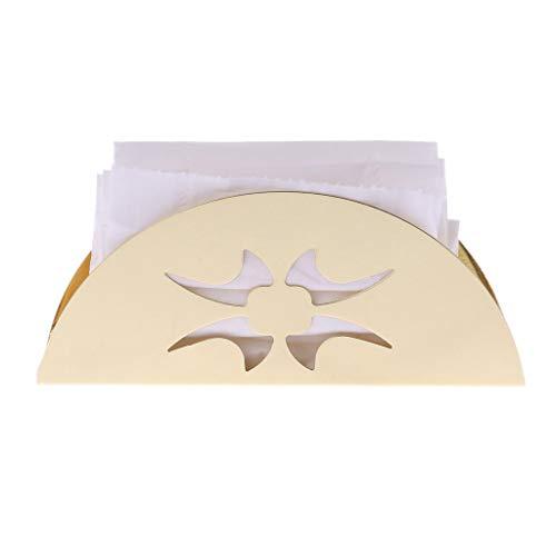 Stebcece Fan-Shaped Napkin Holder Tissue Rack (2) ()