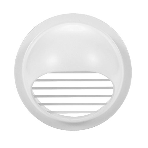 4' Dryer Vent (Hon&Guan 4'' ABS Round Bull Nosed External Extractor Wall Vent Outlet Air Vent Grill Cover for Ventilation (φ100mm))