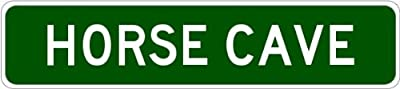 HORSE CAVE, KENTUCKY City Street Sign - Heavy Duty Quality Aluminum Sign