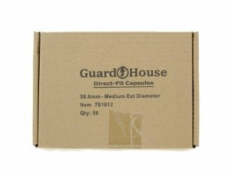 Guardhouse Half Dollar 30.6mm Direct Fit Coin Capsules, 50 Pack