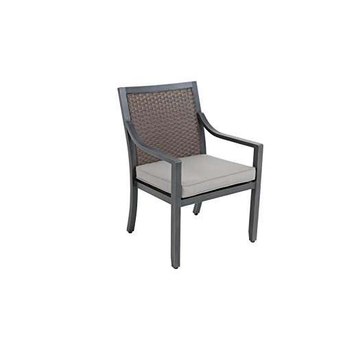 Sunvilla Belize Wicker Patio Dining Chair in Shadow