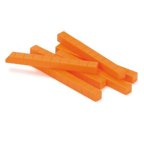 EAI Education Base Ten Rods: Orange Plastic - Set of 50