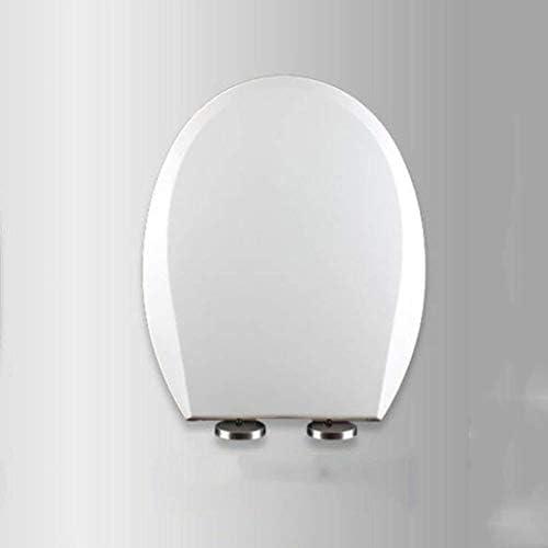 HZDXT ソフトクローズアジャスタブルヒンジクイックリリーストップ固定便座カバーファミリを使用する、C-43.2Cm * 35.7Cm付き便座U / V/Oの形ホワイトトイレのふた