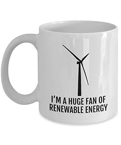 Mug Creatory - Environment Mug - Wind Energy Coffee Mug - Clean Energy - Climate Change - Ecology Gift - Huge Fan Of Renewable Energy - Global Warming, Coffee Mug 11oZ ()