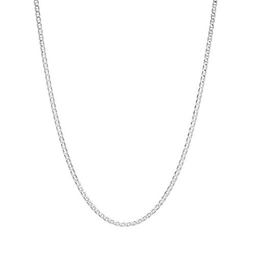 Becca Code 925 Sterling Silver 1.5mm Marina Link Chain Necklace Lobster Claw Clasp ()