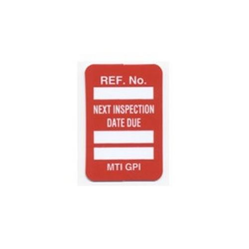 Brady MIC-MTIGPI R 1-7/8'' Height, 1-1/4'' Width, Vinyl, Red Color Microtag Next Inspection Due Date Inserts (Pack Of 100)