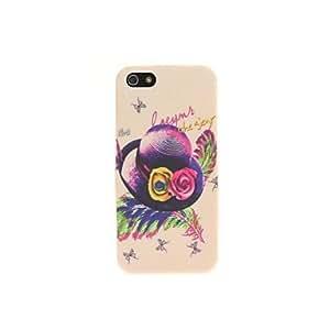 Estilo del dibujo de colores Multicolor flor de la pluma Arreglar Sombrero suave del caso de TPU para el iPhone 5/5S