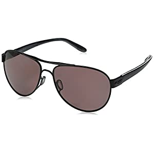 Oakley Women's Disclosure OO4110-04 Polarized Aviator Sunglasses, Polished Black, 58 mm