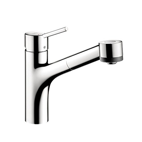 Hansgrohe 06462000 Talis S Kitchen Faucet, 2-Spray Pull-Out, 1.75 GPM with Glory Glaze Stainless Steel and Chrome Cleaner and Stainless Steel Polish, Chrome - Hansgrohe Spray Faucet