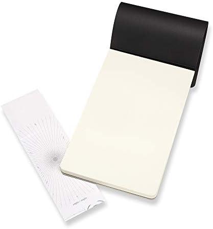 Moleskine Skizzenblock, Skizzenbuch (Papier für Bleistifte, Zeichenkohle, Stifte, Füllfederhalter und Marker, Softcover, Quadratisch 19 x 19 cm, 48 Seiten) schwarz