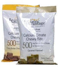Bariatrique Advantage Calcium Citrate 500 mg Bite Chewy Peanut Butter Chocolate 90 ct