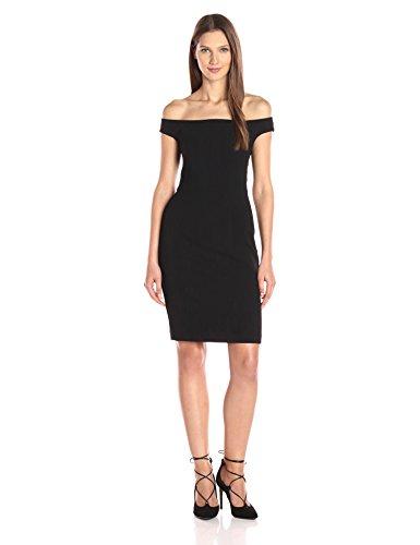 Claire Cocktail - Black Halo Women's Claire Off Shoulder Sheath Dress, Black, 2