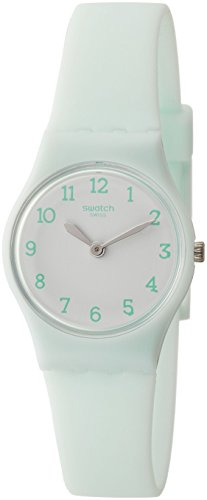 Swatch Originals Greenbelle White Dial Silicone Strap Ladies Watch LG129
