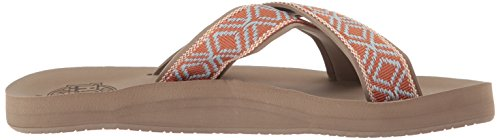 Reef Women's Crossover Flip-Flop, Mocha, B(M) US Mocha