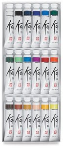 Koi Watercolor Paints 12ml 18/Pkg-Assorted Colors -