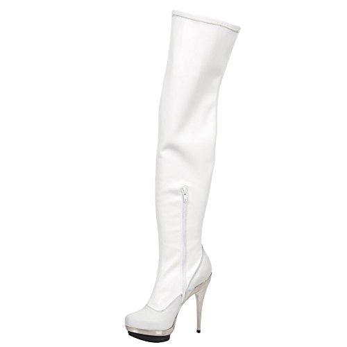 New Rock M.PUNK079-S2, Stivali donna bianco bianco