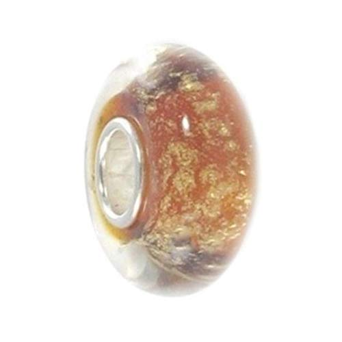 Artisan Blown Lampworks Artful Murano Glass Bead .925 Stamped Sterling Silver Core Fashion Jewelry