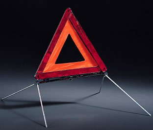 Mini Genuine Emergency Safety Warning Triangle + Case 71606770487
