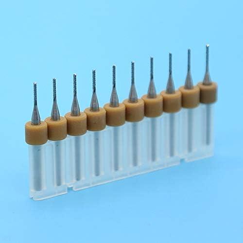 NO LOGO ZZB-PCBZTS, 1,1mm 10er PCB-Mais-Fräser Hartmetall-Mais-Schaftfräser CNC-Fräser Holzwerkzeug PCB Bohrer (Size : 1.0mm 10PCS)