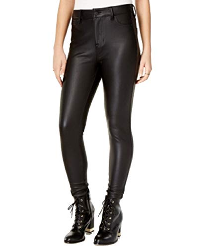 (Celebrity Pink Juniors' Faux-Leather Pants (Black Rinse, 0))